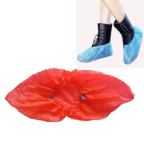 EggshellHome 100PCS Wegwerp Schoenen Cover Unisex Plastic Dikke Outdoor Waterdichte Regenachtige Dag Tapijt Reiniging Schoen Cover Outdoor Boot Covers Stofdichte Anti-slip Duurzame Schoen Cover
