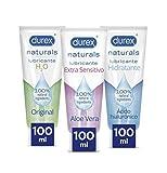 Durex Naturals Lubricante Intimo Extra Sensitivo 100 ml + Naturals Hidratante 100 ml + Naturals H2O...