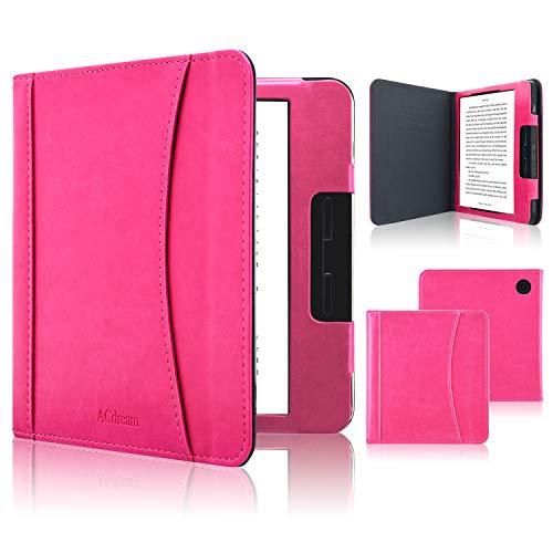 ACcolor Folio Hülle für Kobo Libra H2O 2019 Released - PU Leder Schutzhülle Tasche mit Auto Sleep/Wake Funktion für Kobo Libra H20 eReader, Pink