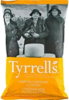 Tyrrell's Potato Chips, Cheddar & Chive 5.3 oz. (Pack of 12)