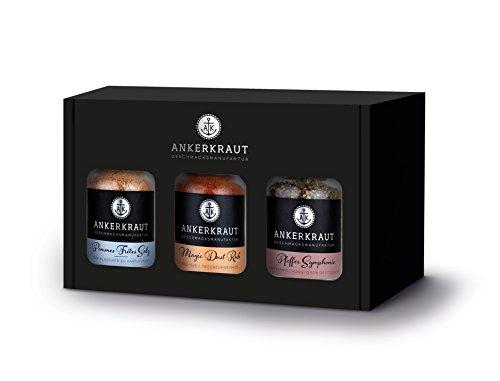 Ankerkraut Geschenkset, Box Best of Ankerkraut mit 3 Gewürzen im Korkenglas