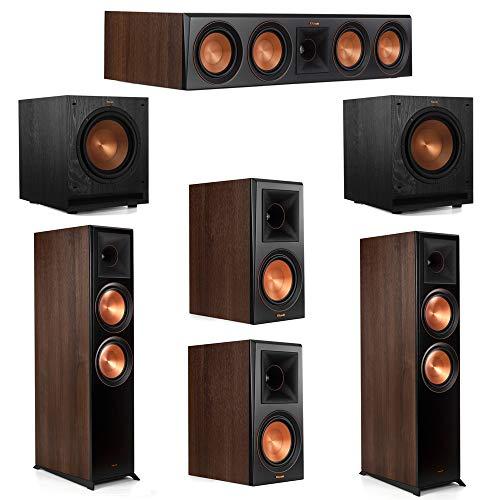 Find Discount Klipsch 5.2 Walnut System 2 RP-8000F Floorstanding Speakers, 1 Klipsch RP-404C Center ...