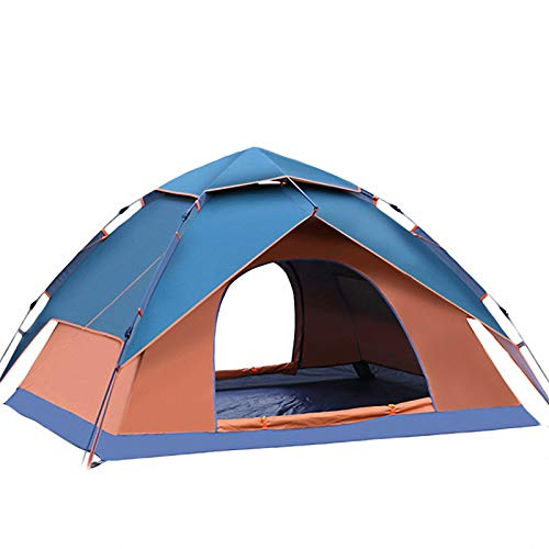 'N/A' Camping Tent 3-4 Person Tents Automatic Waterproof Windproof Double Layer Tent Ultralight Outdoor Hiking Picnic Tents,Orange