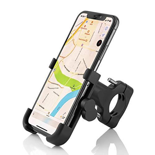 Supporto per Moto/Bici in Alluminio per Smartphone Compatibile con Apple iPhone XS Max, XR, X, 8, 8 Plus/Samsung Galaxy Note9, Note8, S10, S9, S8, S8 +, S7, S7 Edge/Huawei P20, P10, Mate