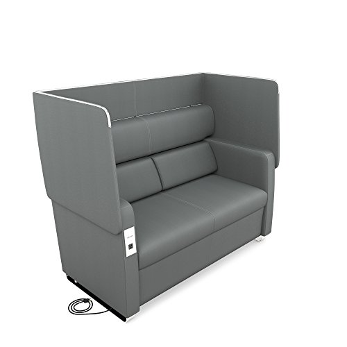 OFM Core Collection Morph Series Soft Seating Sofa, in Slate