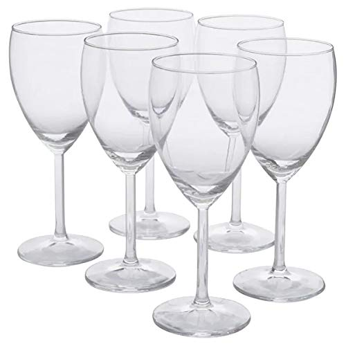 IKEA SVALKA Weißweingläser aus Klarglas; (25cl); 6 Stück