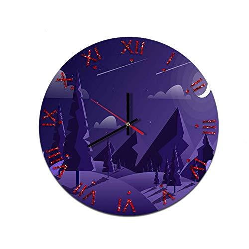 LUOYLYM Reloj De Pared Creativo para El Hogar Reloj De Pared De Acrílico Reloj De Pared Movimiento Silencioso Reloj con Espejo F514-104 28CM