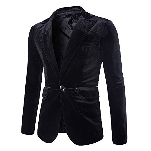 Heren Pure Corduroy One Button Fit Formele Klassieke Blazer Bruiloft Party Jacket Suits Casual Luxe Vintage Retro Smart Elegante Diner Suits Jas Waistcoat Trench Jas Maat M-XXXL