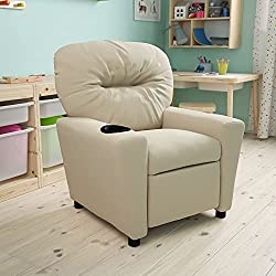 vinyl beige children's recliner
