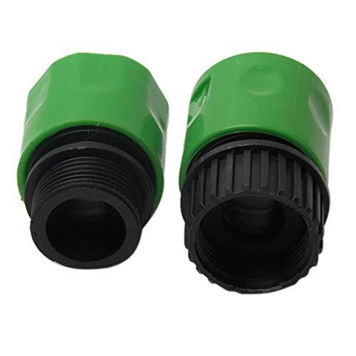Conector rápido de jardín para manguera de 3/8 pulgadas, macho macho hembra adaptador de manguera de agua