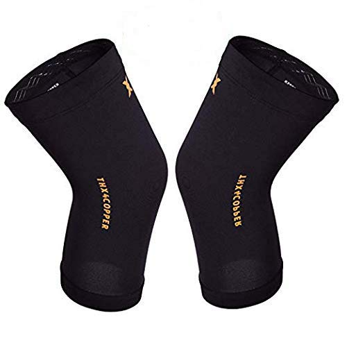 Thx4COPPER Infused Compression Knee Sleeve(1 Pair) - #1 Copper Support...