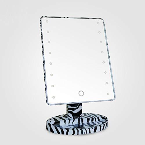 KUNHAN Make-up spiegel Led Licht Vanity Spiegel 180 Graden Roterend Scherm Met Dimbare Led Licht Make-up Spiegel