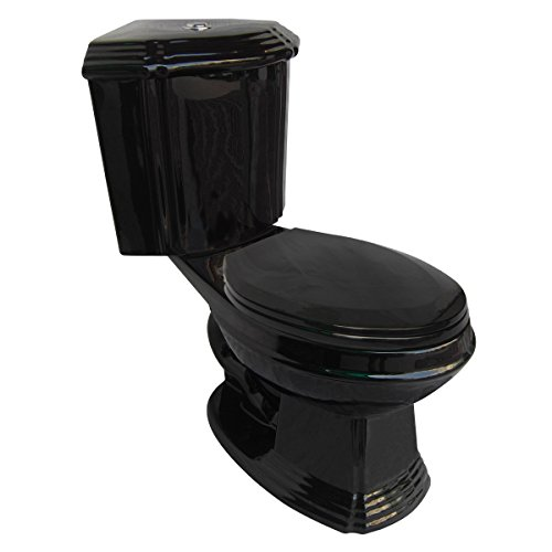 Black Ceramic Elongated Space Saving Corner Toilet