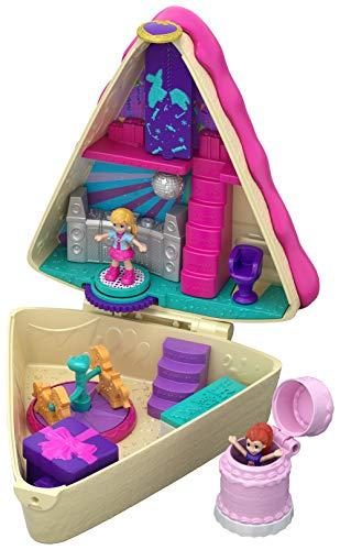 Mattel Polly Pocket-Cofre Tarta de Cumple, muñeca con Accesorios, Juguete +4 años, Multicolor GFM49