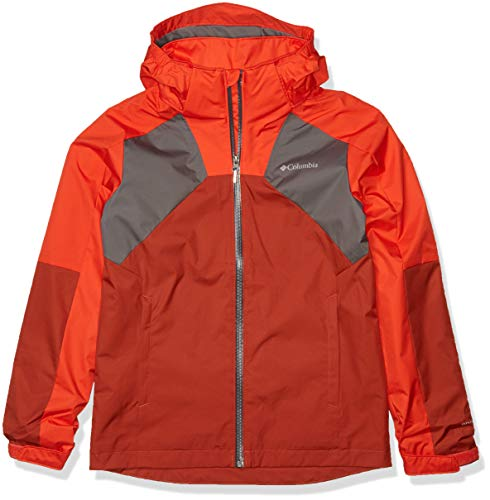 Columbia Kids & Baby Rain Scape Jacket, Wildfire/Carnelian Red/City Grey, X-Large -  Columbia (Sporting Goods), 188649-845-X-Large