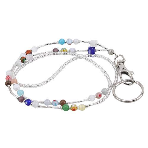 MOONRING Beads Lanyard Women Strong Chain Lanyard for Badge Holder Keys Bags Accessories