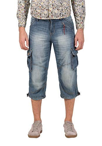 Timezone Herren Loose MilesTZ Shorts, Blau (Light Sea Blue Wash 3357), W34 (Herstellergröße: 34)
