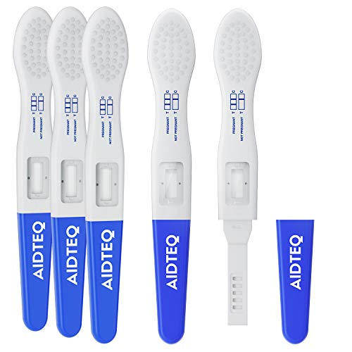 5 x Aidteq Professional Ultra Early Pregnancy Test Dip Cards | Ultra-Sensitive Urine Pregnancy Tests | 99% Accuracy | Test Six Days Before Missed Period