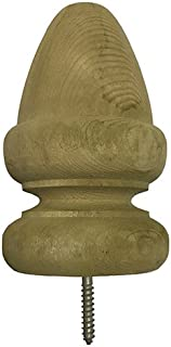Pressure Treated Wood Acorn Top Finial for Fence and Deck Posts - Green