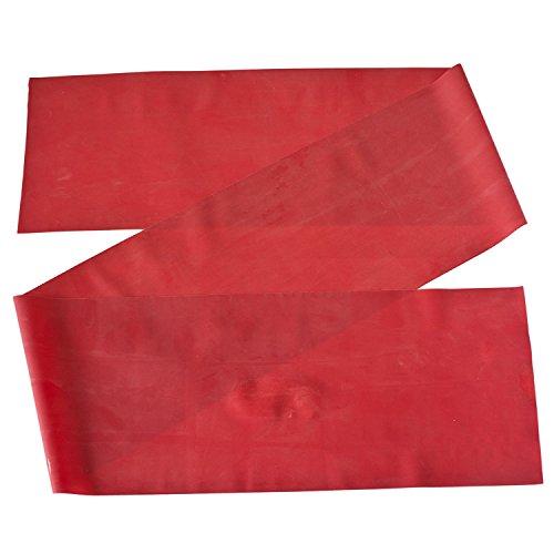 Theraband Gymnastikband für Fitnessübungen/Physiotherapie, Red (Medium), 3 m