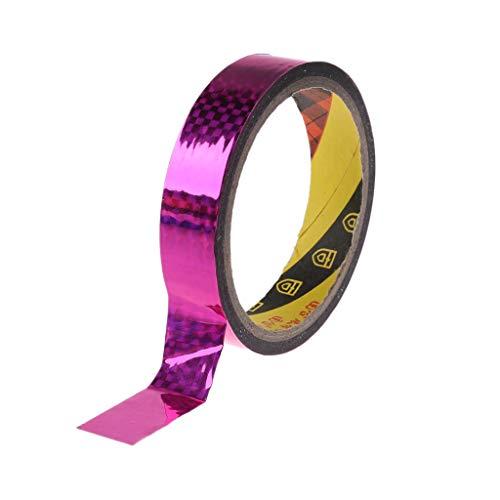 FXCO Rhythmische Gymnastik Dekoration Gymnastikband Holographische RG Prismatische Glitter Tape Hoops Stick (Pink)