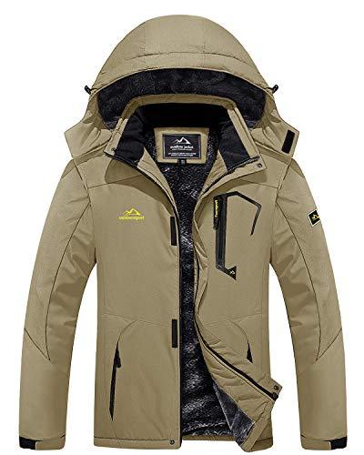MAGCOMSEN Chaquetas de invierno para hombres gruesa chaqueta de nieve ropa al aire libre impermeable Chaquetas para hombre Chaquetas de lluvia Pesca Abrigos de trabajo de vacaciones