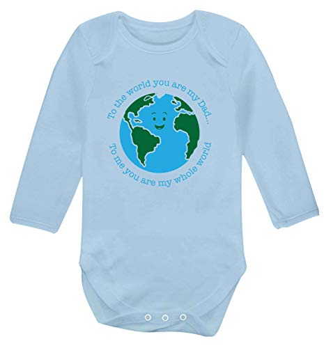 Flox Creative T-shirt à manches longues pour bébé Inscription Dad You are My Whole World - Bleu - S