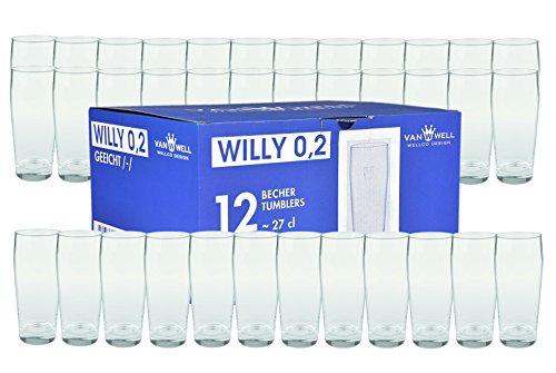 Set di 36 bicchiere da birra Willi tazza 0, 2L calibrato