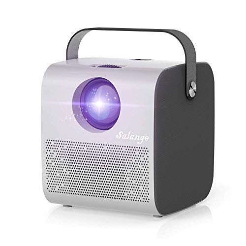 Movie Projector,Built-in Bluetooth Speakers,Salange Mini Video Projectors Portable with 7000 LUX,HD 1080P and 300'' Display,Compatible with iPhone,TV Stick,PS4,Laptop for Outdoor/ Home Theater