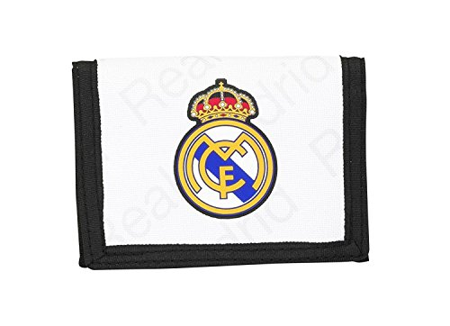 Real Madrid CF, cartera monedero (S036), blanco, 12,5 x 9,5 x 1 cm
