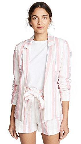 Parker Damen Daren Long Sleeve Striped Linen Blazer Jacke, Multi, Groß