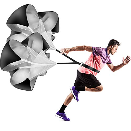 """Vhxorrz Running Speed Training Parachute 56"""" Speed Chute Resistance Parachute for Kids Youth Adults Football Basketball and Speed Acceleration Training"""