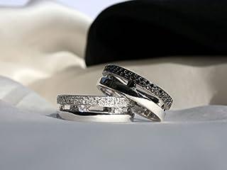 Fede in oro 18 kt e pavé di diamanti incastonati a mano bianchi alta gioielleria italiana