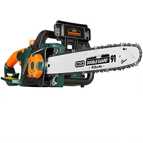 Gardebruk Elektrische Kettensäge 2800 Watt 46cm Schnittlänge Oregonschwert automatische Kettenschmierung Motorsäge