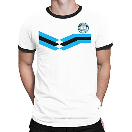 Tee Spirit Argentina Camiseta Para Hombre World Cup 2018 Fútbol New Style Retro