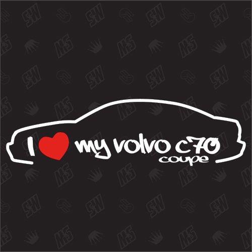 speedwerk-motorwear I Love My C70 Coupe - Sticker für Volvo - Bj. 1997-2005