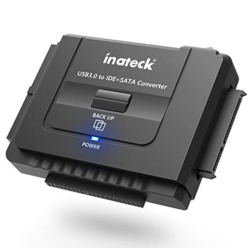"Inateck Docking station universale con interruttore di alimentazione, con convertitore da IDE/SATA a USB 3.0, SATA HDD 2,5' e 3,5"" & Dischi IDE HDD, Supporta CD/DVD, compatibile con Windows XP/Vista/7/8/ Mac OS 10.X"