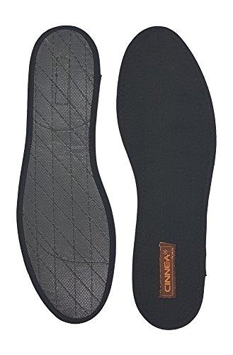 Cinnea Zimt-Einlegesohlen 3 Paar, schwarz Größe 36-47, Zimt-Sohlen, Zimteinlagen, Zimtsohlen + gratis Green-Feet Zimt Deko (40)
