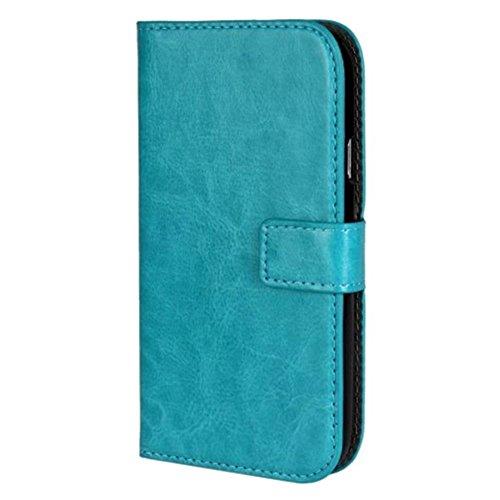 HUANGTAOLI Protettiva Cuoio Portafoglio Flip Case Cover per Samsung I9060i Galaxy Grand Neo Plus(i9060i/i9060/i9062)