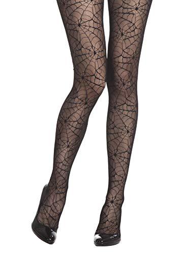 Spinnen Netz Strumpfhose zum Hexen Kostüm Gr. S M - Tolles Accessoire für Halloween oder Karneval Kostüme