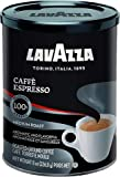 Lavazza Caffe Espresso Ground Coffee Blend, Medium Roast, 8-Ounce Cans, 2 Pack