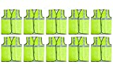 Fabtec Reflective 2 PVC Safety Jacket Green Fabric Type (Set of 10)