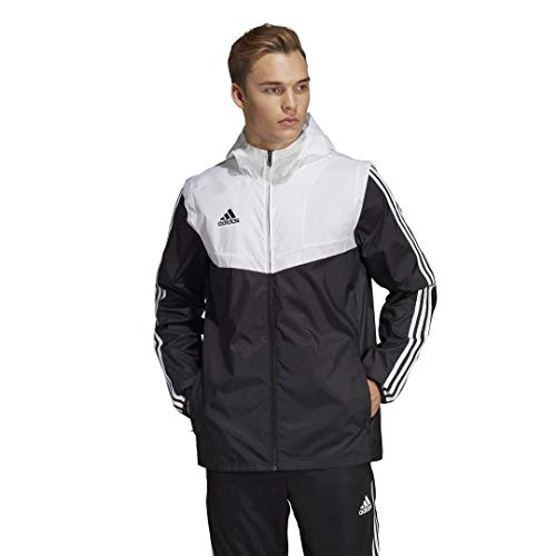 adidas Men's Tiro Windbreaker, Black/White, Large