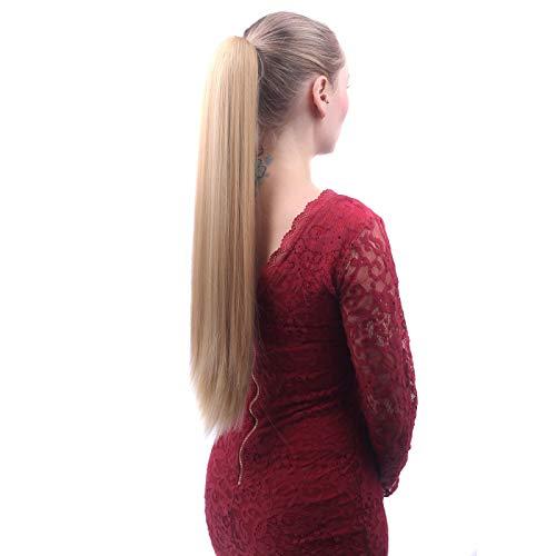 No branded Perruque de Cheveux Cheveux Humains Queue de Cheval Remy Brésiliens Queue de Cheval Enrouler Autour de Queue de chevalet Perruque Cheveux Pièces Naturel Queue Droite