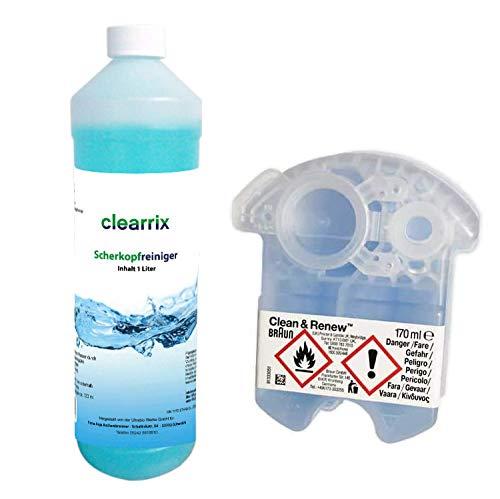 Scherkopfreiniger inkl Braun Clean & Renew CCR Reinigunskartusche Nachfüllflüssigkeit für Reinigungskartusche Reinigungsflüssigkeit