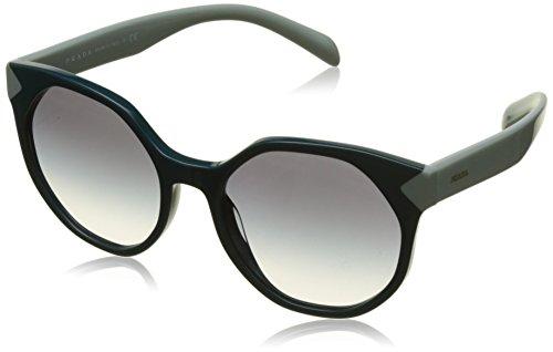 Prada Damen 0Pr11Ts Vio3C2 55 Sonnenbrille, Grün (Green/Cleargradientbluee)