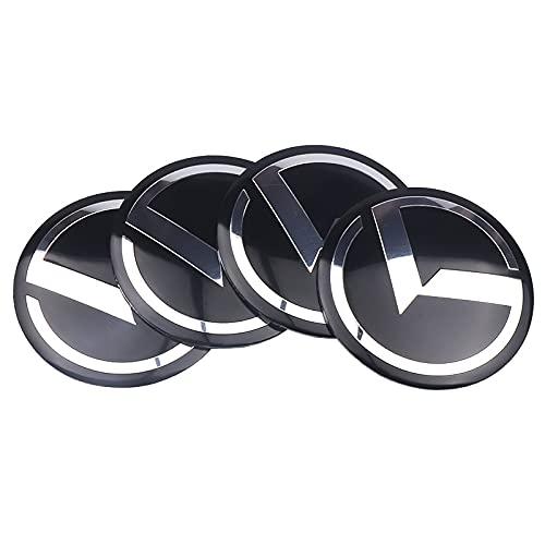 Tapas De Cubo De Centro De Rueda 4PCS Coche Coche Centro Hub Caps StickesR 56mm K K5 Logo Insignia Calcomanías Compatible con Kia Cerato Sportage R K K2 K3 K4 K5 K6 Sorento Sportage Cubierta central