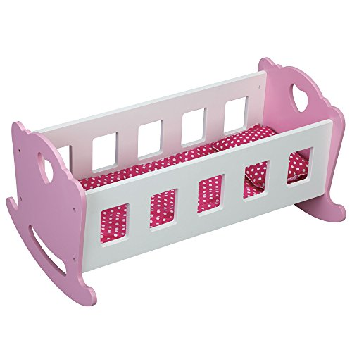 Molly Dolly Wooden Dolls Rocking Cradle