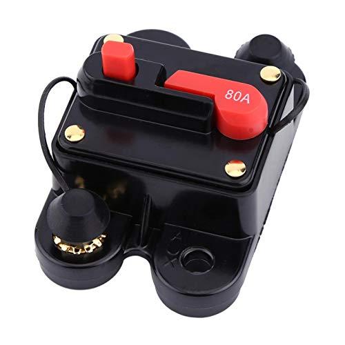 Yosoo Health Gear 1pc Interruttore Automatico DC12v, Interruttore Automatico a ripristino Manuale per Circuito di autoradio o apparecchio Elettrico per Auto di Grandi Dimensioni (80A)