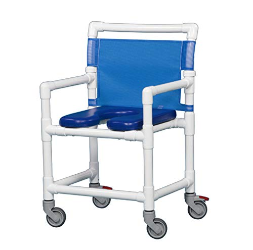IPU VL OF9200 MS MID-Size Rolling Shower Chair 350LBS Capacity (Blue)